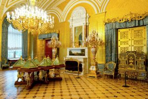 The Golden Drawing Room, Winter Palace, Hermitage Museum, Russia