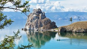 Lake Baikal in the summer, Russia